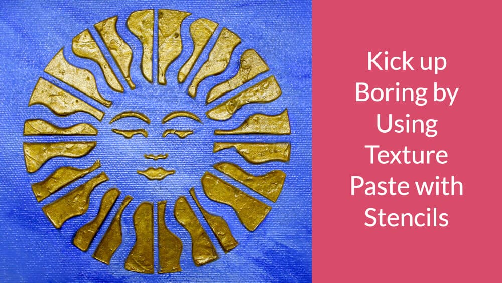 Kick up Boring by Using Textured Paste with Stencils