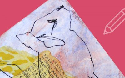 Introduction to Blind Contour Drawing with Mixed Media