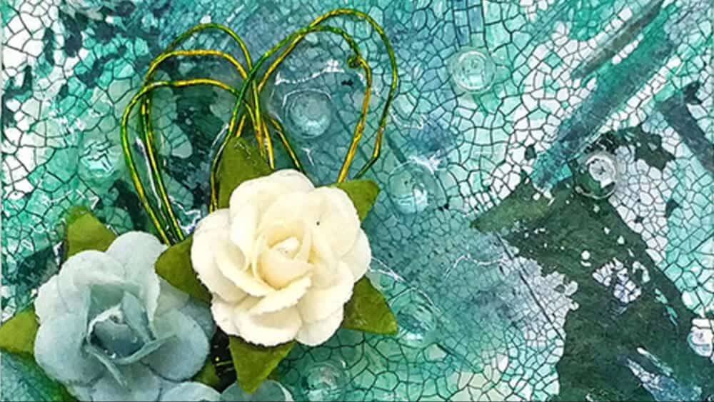 Creating Small Mixed Media Art with Wire, Paper Flowers and Glass