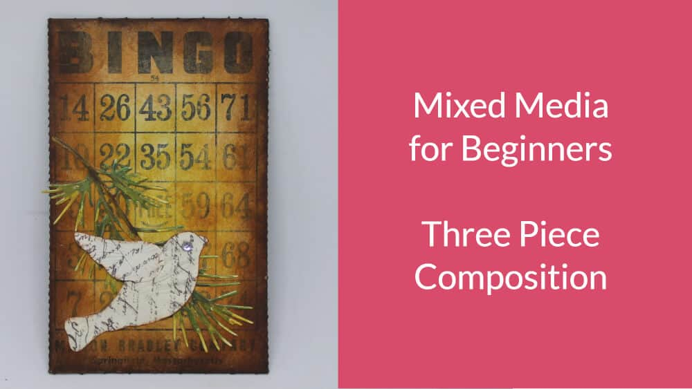Creating a Simple 3 Piece Mixed Media Composition and a Challenge