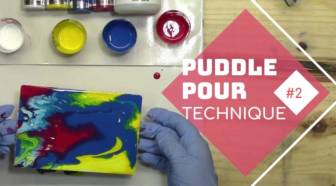 Acrylic Pouring Experiment #2 – Puddle Pour Technique
