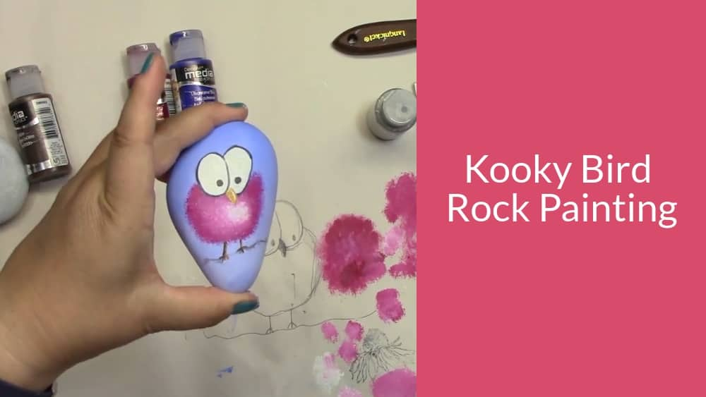Kooky Bird Rock Painting