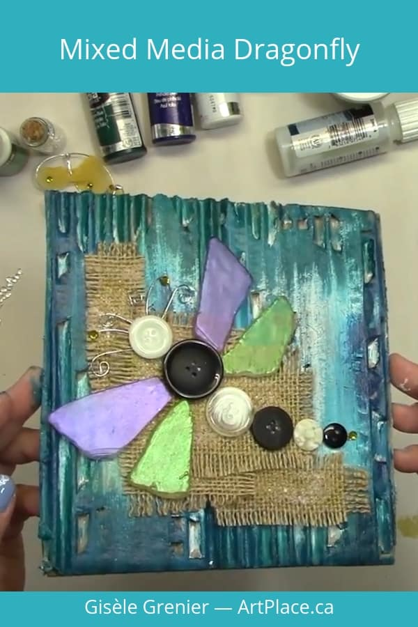 A mixed media project for any skill level, using what you have around the house to memorialize an inspiration.