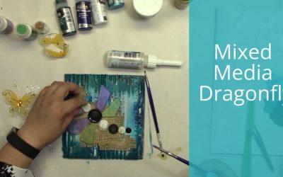 Mixed Media Dragon Fly
