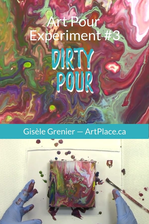 Acrylic Pouring Experiment 3 - The Dirty Pour