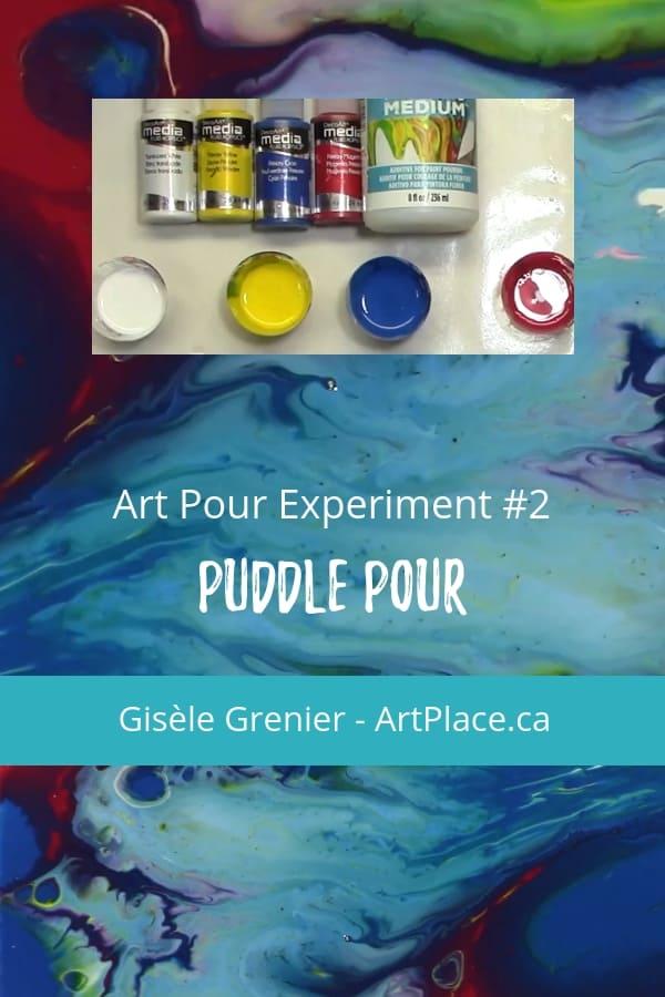 Acrylic Pouring Experiment #2 - Puddle Pour Technique