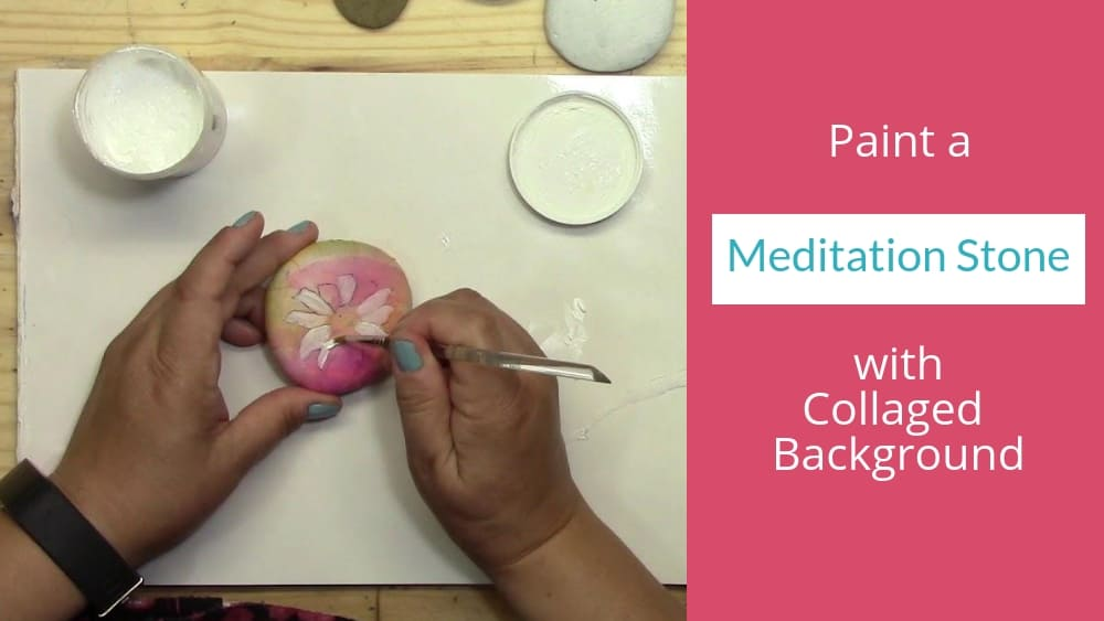 How to Make a Collaged Daisy Meditation Stone