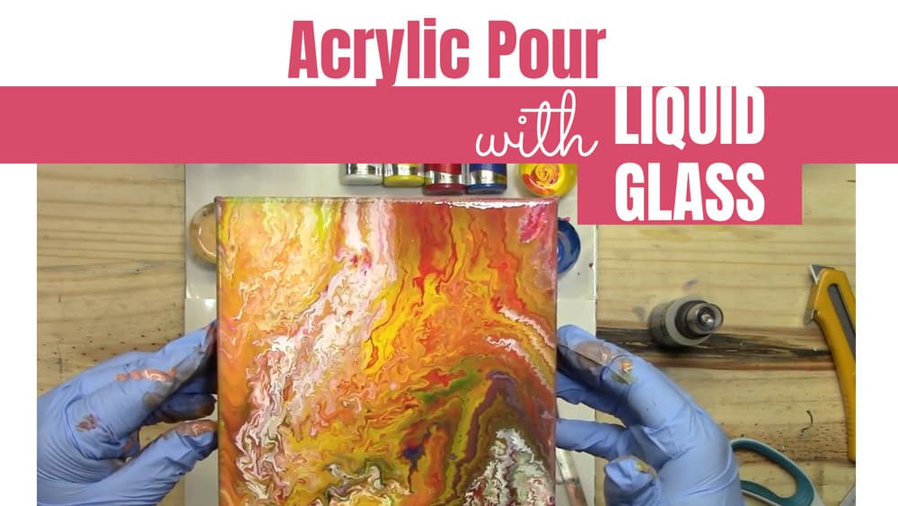 Acrylic Pouring Experiment #7 – Liquid Glass on top of a Wet Pour Looks like a Virus Worm