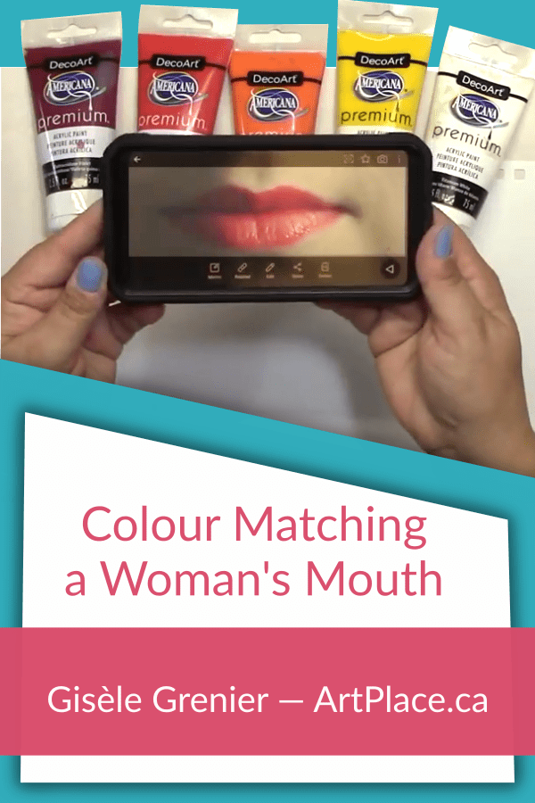 Colour Matching and Mixing - Painting a Woman's Mouth from a Photo