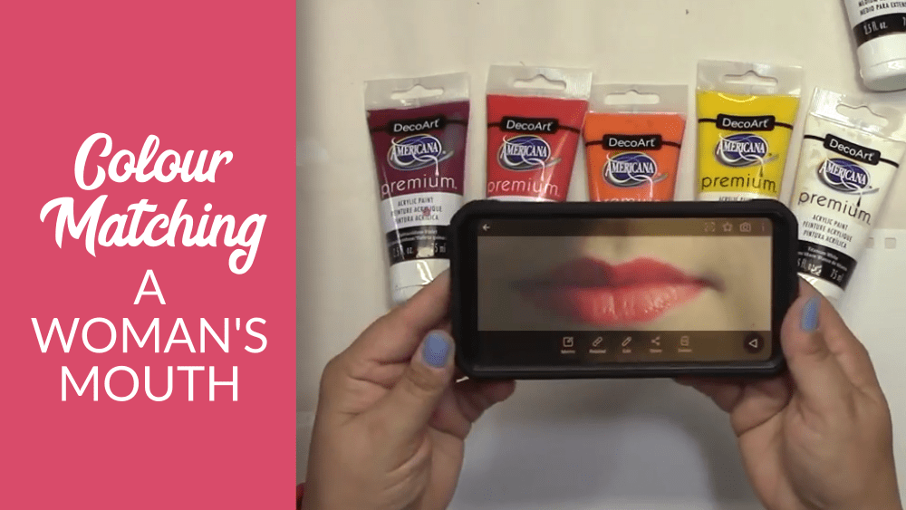 Colour Matching and Mixing – Painting a Woman's Mouth from a Photo