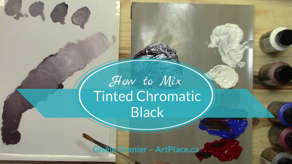 How to Colour Mix a Tinted Chromatic Black
