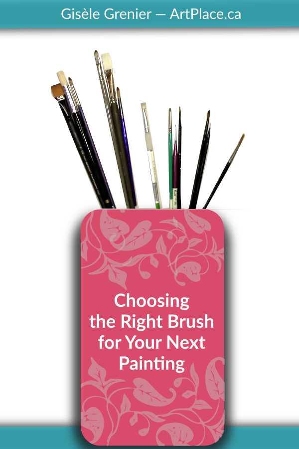 I have to admit, I'm a lover of paint brushes. I have so many different kinds, but which ones do I really use?  very few.   In this chat, I'll talk about how to choose the right brush for your next painting project.