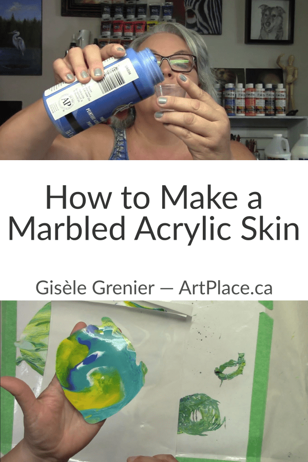 How to Make a Marbled Acrylic Skin