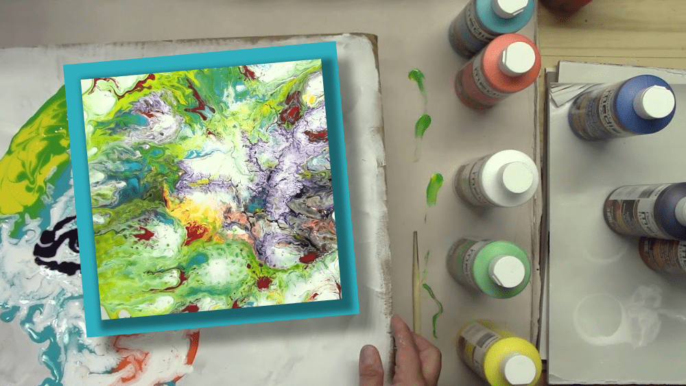 Picasso Paint Pour Into a Beautiful Hot Mess of Colourful Molten Lava