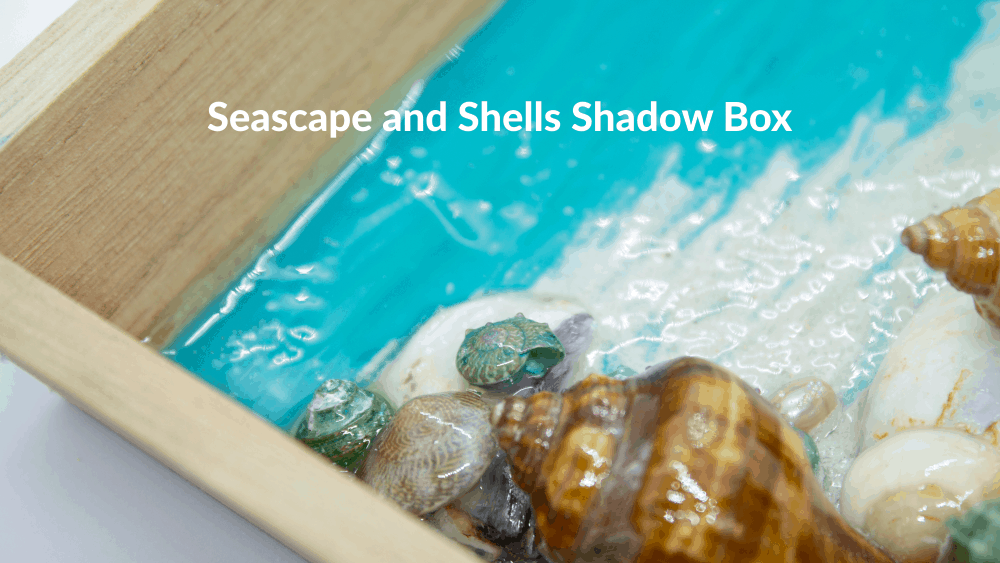 Seascape and Shells Shadow Box