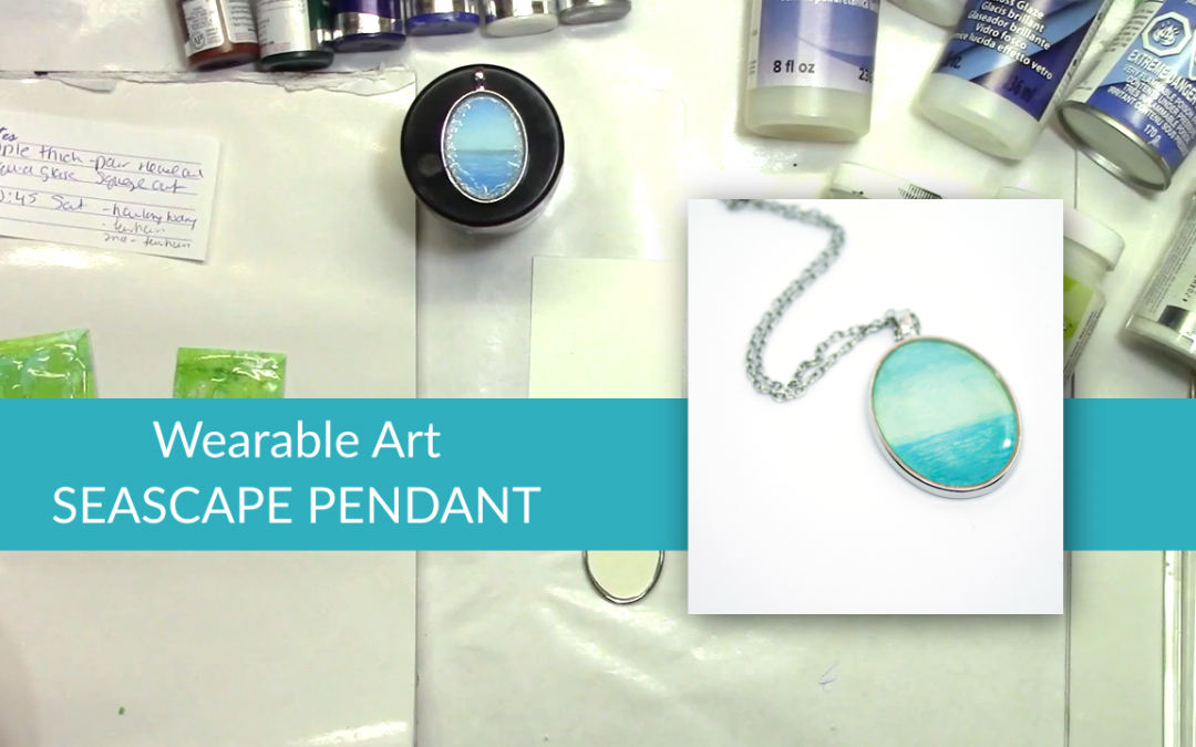 Why Not Wear Your Next Painting? featuring a Seascape necklace