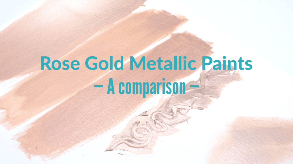 Metallic Paint Comparison featuring Rose Gold