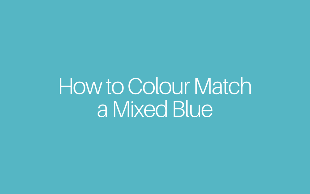 How to Colour Match a Mixed Blue