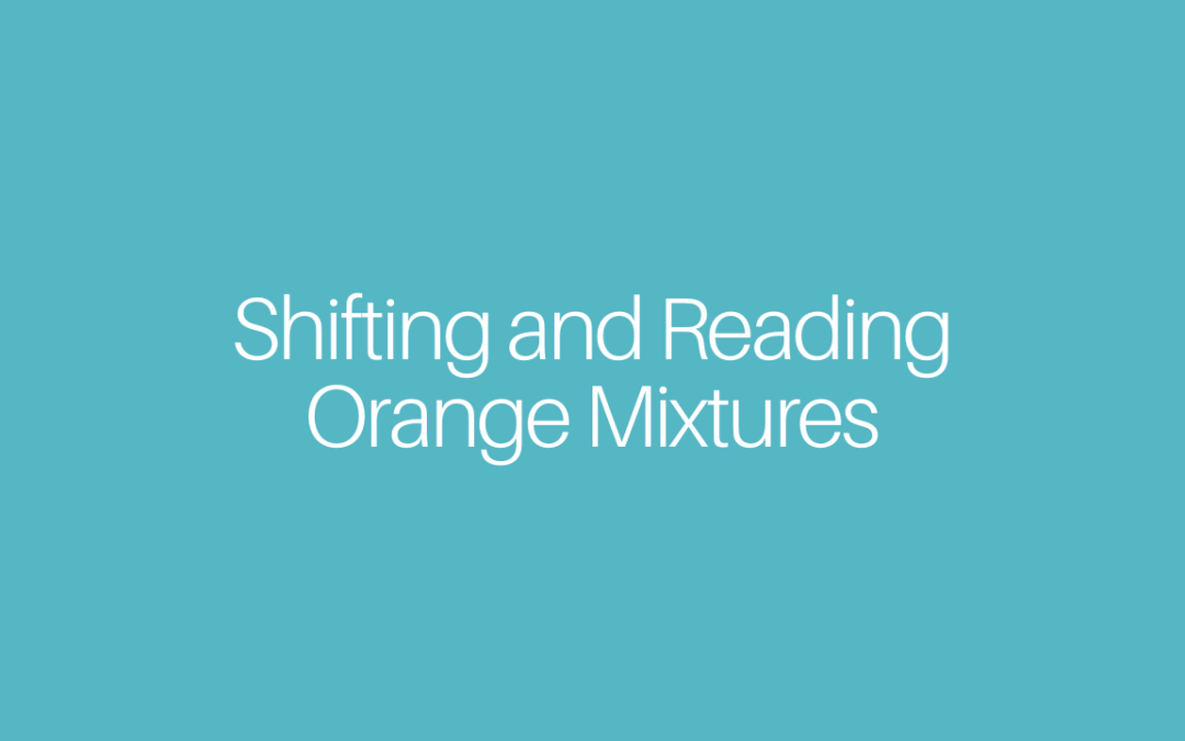 Shifting and Reading Orange Mixtures