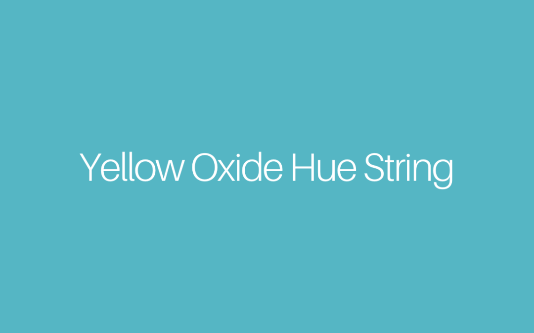Yellow Oxide Hue String