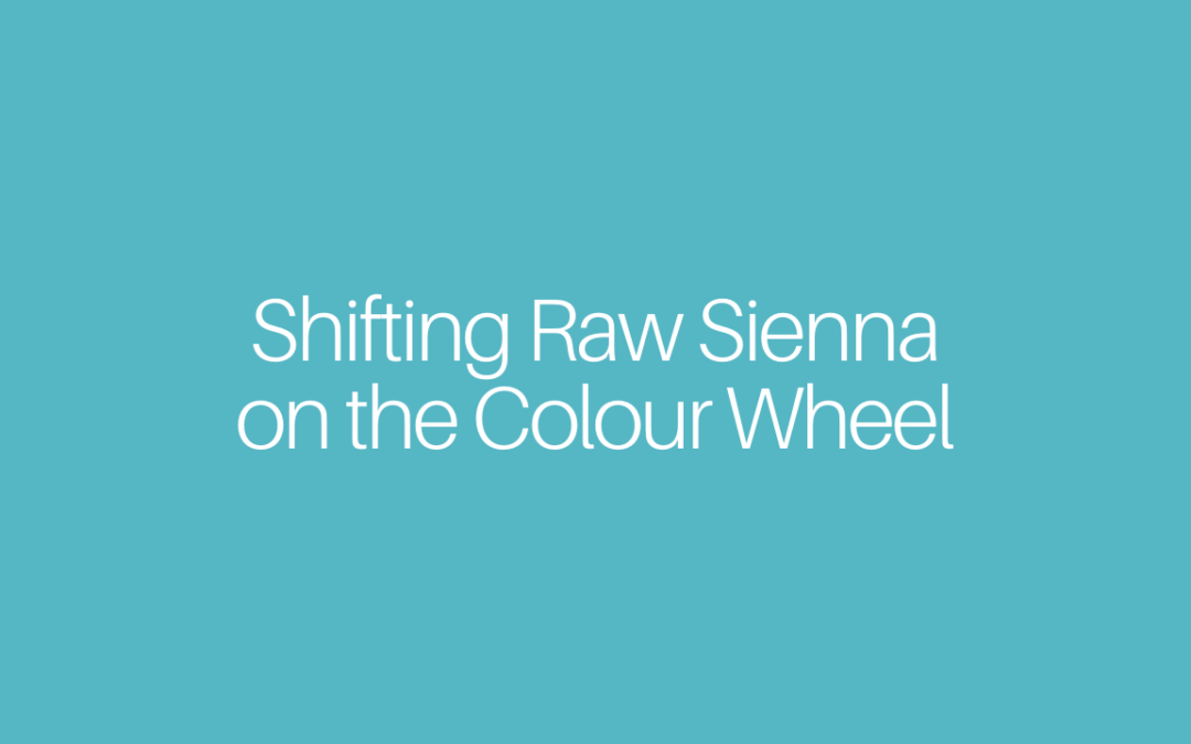 Shifting Raw Sienna on the Colour Wheel