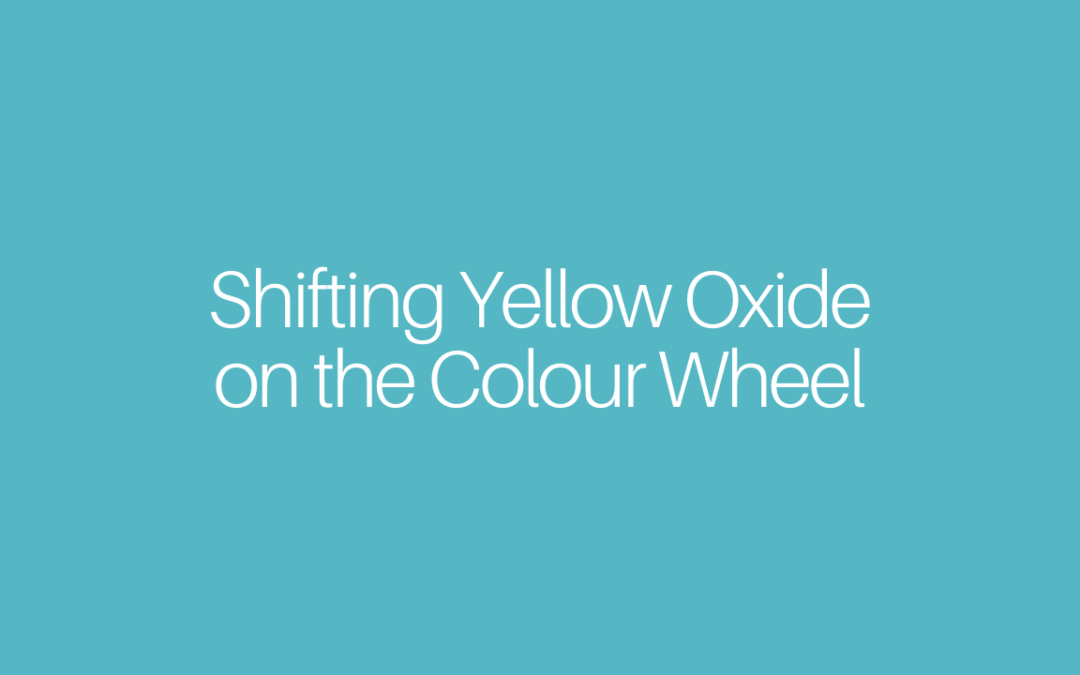 Shifting Yellow Oxide on the Colour Wheel